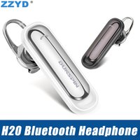 Wholesale note wireless headphones for sale - Group buy ZZYD H20 Bluetooth headset Mini Wireless Bluetooth Headphone Noisecancel Earphones with Mic for iP7 X Samsung S9 Note