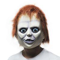 хэллоуин женское лицо маски латекс оптовых-12OFF горячие продажи страшно силиконовые женское лицо клоун Маска плохой мальчик фиолетовый губы взрослых партии Маскарад резиновые латексные маски для Хэллоуина
