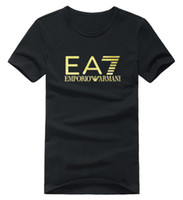 promenade en or achat en gros de-EA Gold Print 2018 Vente Chaude Marque Vêtements Mode Casual T-shirt Hommes Coton Creative aigle drôle Imprimer tshirt homme Vogue Style TopsTees