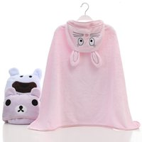 Wholesale fleece baby hats for sale - Group buy 6 Color Ins Style Wearable newborn blanket Soft Coral fleece Cute Animal Hat blanket cm Flannel Baby Blanket Swaddling