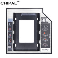 """Wholesale Laptop Drive Enclosure - CHIPAL Universal 2nd HDD Caddy 12.7mm 2.5"""" SATA 3.0 SSD Case Hard Disk Drive Enclosure with LED Indicator for Laptop CD-ROM"""