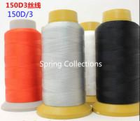 cortinas finas al por mayor-3 Unids / lote de Alta Resistencia 150D 3 strands hilo hilo de filamento de nylon bordado de costura para la cortina de tela delgada