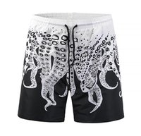 Wholesale hot male trunks - HOT Wholesale Mens board shorts summer surf shorts men running swimming trunks male octopus swimwear shorts quick drying mens beach wear