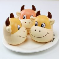 Wholesale photo gift business online - Cartoon Cattle Head Squishy Hand Squeezed Toy PU Animal Squishies Decompression Toys Photography Take Photo Prop hc C