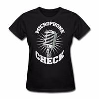 micrófonos chinos al por mayor-Camiseta de mujer Camiseta de mujer 2018 Verano Algodón Micrófono de mujer Compruebe Camisetas Camisetas de estilo chino Tops Harajuku Camiseta
