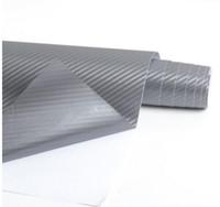 autocolantes internos do carro venda por atacado-Fibra De Carbono 3D Vinyl Car Wrapping Folha De Fibra De Carbono Decoração Do Carro Adesivo Interno Muitas Opções de Cor DIY Car Styling