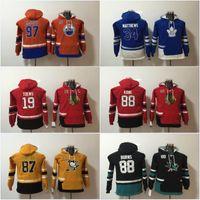 Wholesale Hot Boys Hoodie - Youth New Hot Sale 87 Sidney Crosby 97 Connor McDavid 34 Auston Matthews 19 Jonathan Toews 88 Patrick Kane Hoodies Jerseys Sweatshirts