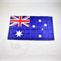 ingrosso bandiera nazionale australia-Australia / bandiera nazionale australiana Spedizione gratuita 3x5 FT / 90 * 150cm Hanging Australia Bandiera nazionale Bandiera decorazione casa