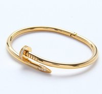Wholesale nails screws for sale - Fashion New Screw Nail Cuff Bracelets Bangles Female Stainless Steel Carter Loves Bracelet for Women Jewelry