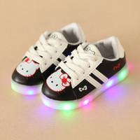 ingrosso scarpe da ragazzi 8.5-2018 Fashion LED Lighting Shoes Cool First Walkers Boots Cute Baby Boys Girls Toddler Shoes Shining Casual Sneakers per bambini