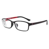lila brillen großhandel-Neue fertige Myopie Brillen optische Männer Frauen Student Rezept Brille 3 Farben Brillen schwarz rot lila -0,50 -1,0 -4,0