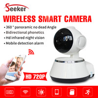 Wholesale Night Vision Ptz Camera - IP Camera 1.0MP 720P Pan Tilt PTZ P2P Wifi Wireless Security Camera with Night Vision Micro SD Card slot ONVIF