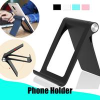 настольный телефон оптовых-Регулируемый универсальный алюминиевый мобильный телефон держатель планшета настольная подставка для iPhoneX 7 7Plus iPad iPad мин