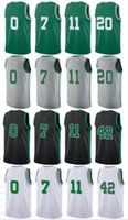 Wholesale Cheap 42 - Men's 2017-18 jerseys for the new season #0 #7 #11 #20 #42 jersey High quality rip Basketball jerseys Cheap Stitched free shipping