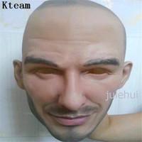 máscara de látex para homens venda por atacado-New Hot !!! Festa de Halloween Cosplay Homem Famoso David Beckham Máscara Facial Máscara de Rosto Real Do Partido Do Látex Traje Humano Crossdress máscara realista