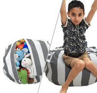 Wholesale bean bag chair resale online - Plush Toy Storage Bean Bag Colors Beanbag Chair Stuffed Room Mats Stuffed Soft Pouch Stripe Storage Bean Bag EEA11