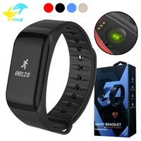 Wholesale Camera For F1 - Fitness Tracker Wristband Heart Rate Monitor Smart Band F1 Smartband Blood Pressure With Pedometer Bracelet