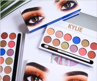 Wholesale pro 12 colors eyeshadow palette - 5A kylie Beauty shadow palette eyeshadow copy colors Shimmer Matte Eye shadow Pro Eyes TEXTURED STURED SHADOWS PALETTE Makeup Cosmetics