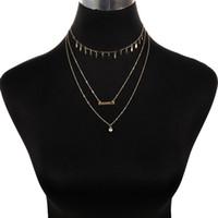 perlen handgemachte aussage halskette großhandel-Böhmischen Stil Frauen Mode Charme Schmuck Dünne Perle Handgemachte Lange Quaste Aussage Gliederkette Halskette XL0017