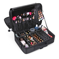 Wholesale professional cosmetic accessories online - L Size Beautician Makeup Box Shoulder Professional Cosmetic Bag Cases Travel Organizer Necessary Toiletry Luggage Accessories