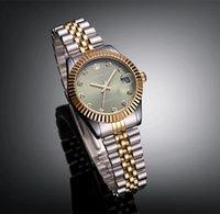 yeşil elbise saatleri toptan satış-Marka Yeni Lüks Bayan Elbise Tarzı Çelik bileklik Gümüş Altın Yeşil Kadınlar Kuvars İzle