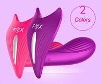 ingrosso marchi vibratori-FOX Marca 7 Velocità Telecomando senza fili Vibratore Strap On Panties Vibrazione Farfalla Dildo G Spot Vibratori clitoride Giocattolo sessuale Per donne