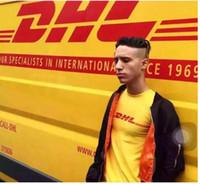 мужская футболка dhl оптовых-Повседневная DHL футболка мужчины DHL письмо печатных скейтборды футболки 100% хлопок летний стиль с коротким рукавом причинно Tee Бесплатная доставка