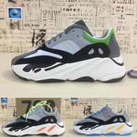 Wholesale new wave fashion - Runner 2018 Kanye West 700 Wave Runner With Reflective Stripe With box New 700 Sneakers Fashion Sport Running Shoes