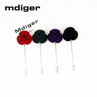 Wholesale mens flower lapel pins - wholesale New Mens Brooch Lapel Pins Flower High-end Fashion Exquisite Brooches Handmade Boutonniere Stick Brooches Pin Accessories