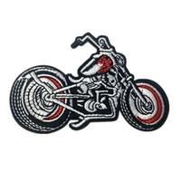 şapka moto toptan satış-Işlemeli Yama Motosiklet Moto Punk Dikiş Demir On Yamalar Rozeti Çantası Kot Şapka Aplikler DIY Sticker Dekorasyon Giyim Aksesuarları