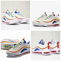 Wholesale fashion trainers - 2018 New Max97 SE SUMMER VIBES Running Shoes For Men & Women, Fashion 97 97s Athletic Trainers Sneakers AQ4137-101 Eur 36-46