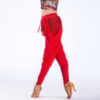 calças de dança latinas venda por atacado-Latin Dance Dress Venda Hot Cotton Modal Poliéster Mulheres 2018 New Tassel Latin Dance Practice Calças para a menina Calças