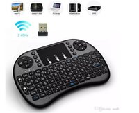 Wholesale 200pcs i8 Russian English Version i8 ghz Wireless Keyboard Air Mouse Touchpad Handheld for TV BOX Android mini PC