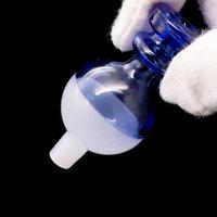 ingrosso fori a sfera-Berretto a sfera in vetro di Cap Carb all'ingrosso con mini foro accessorio fumi per bong in vetro rotondo con chiusura a goccia di quarzo rotondo Terp
