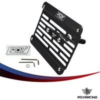 Wholesale eg control - PQY RACING - Multi Angle Tow Hook Mount PQY License Plate For Honda Civic EG EK ES FD with PQY Sticker PQY-LPF02