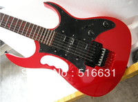 Wholesale new style electric guitar - Free shipping Top quality new style IBZ JEM 7V guitar 7V Electric Guitar with floyd rose in red color