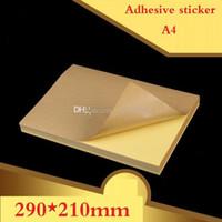 papel para etiquetas de inyección de tinta al por mayor-100 hojas / lote tamaño A4 Etiqueta adhesiva Kraft en blanco / Papel autoadhesivo A4Kraft para impresora láser de inyección de tinta Etiqueta de embalaje