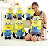 Wholesale Despicable 3d - Despicable ME Movie Plush Toy 18cm Minion Jorge Stewart Dave Minions 3D eyes plush toys with tags free shipping