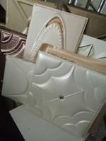 prix autocollants 3d mur achat en gros de-Prix de gros 3D Mur Papier PU En Cuir Sculpture Effet Autocollant Mural Autocollant Mur Décor Pour Salon Enfants Chambre Décoration