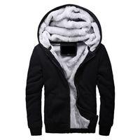 sudaderas de invierno de lana al por mayor-Hombres con capucha Casual Brand Hoodies Ropa de lana Forro para hombre invierno engrosada Abrigo cálido Hombre M-4XL Sudaderas Outwear