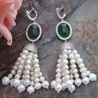 ingrosso cristallo bianco 5mm-E032514 4-5MM 7-8MM Orecchini in cristallo verde perla perlati CZ