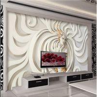 Wholesale Fabric Photo Paper - Custom Relief sculpture beautiful woman Photo Wall paper 3D Mural Wallpaper Art Design Bedroom Office Living Room home decoring