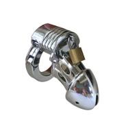 bdsm keuschheitsringe großhandel-5 größe ring einstellbare metall keuschheits BDSM bondage Cock Cage Penis Lock sexspielzeug für männer S19706
