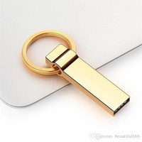 memórias flash usb venda por atacado-Top Real Capacidade Ouro 128GB 3.0 USB Flash Drive Memory Stick Pen Drive