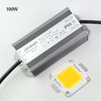 e27 luces de inundación al por mayor-La alta potencia 10W 20W 30W 50W 100W llevó los chips de la lámpara con la fuente de alimentación llevada para la luz de inundación DIY en W WW que enciende 1set