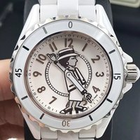 ingrosso specchio nero-Luxury Lady White / Black Ceramic Mirror in vetro zaffiro Orologi di alta qualità Quartz Fashion Exquisite Women Watches Wristwatches
