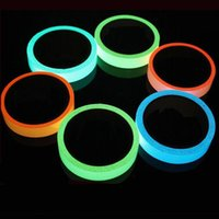 Wholesale Fluorescent Strip Lights - 5M DIY Glow Luminous Tapes Warning Stripes Night Lighting Emergency Lines Fluorescent Anti-collision Strip Sticker 2B