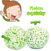 Wholesale Kids Squeeze Toy - Hami Melon Soft Squishy Jumbo Slow Rising squeeze Kid Toy collection Relax Novelty Items FFA301 60PCS