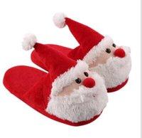 pantoufles chauds talons achat en gros de-SunNY Everest Oldman Noël Zapatilla Pantoufles pleine Talons En Peluche Maison Coton Pantoufles Hiver Chaud Chaussures Dame famille