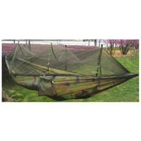 hamacas de camuflaje al por mayor-Double Person Travel tienda de campaña al aire libre colgando hamaca cama Mosquito Net Camouflage